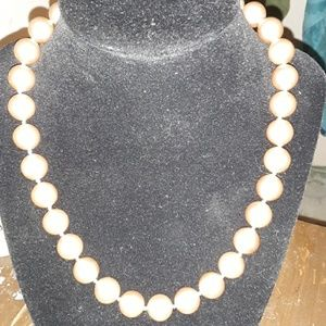 Pearl costume jewelry necklace